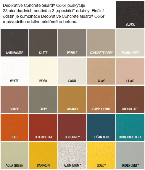 Decorative Concrete Guard COLOR